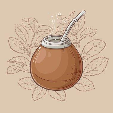 mate tea in calabash and bombilla