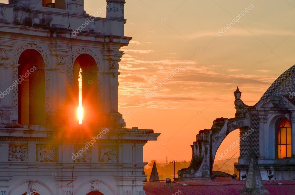 Sunrise, Puebla City, Mexico. May 17