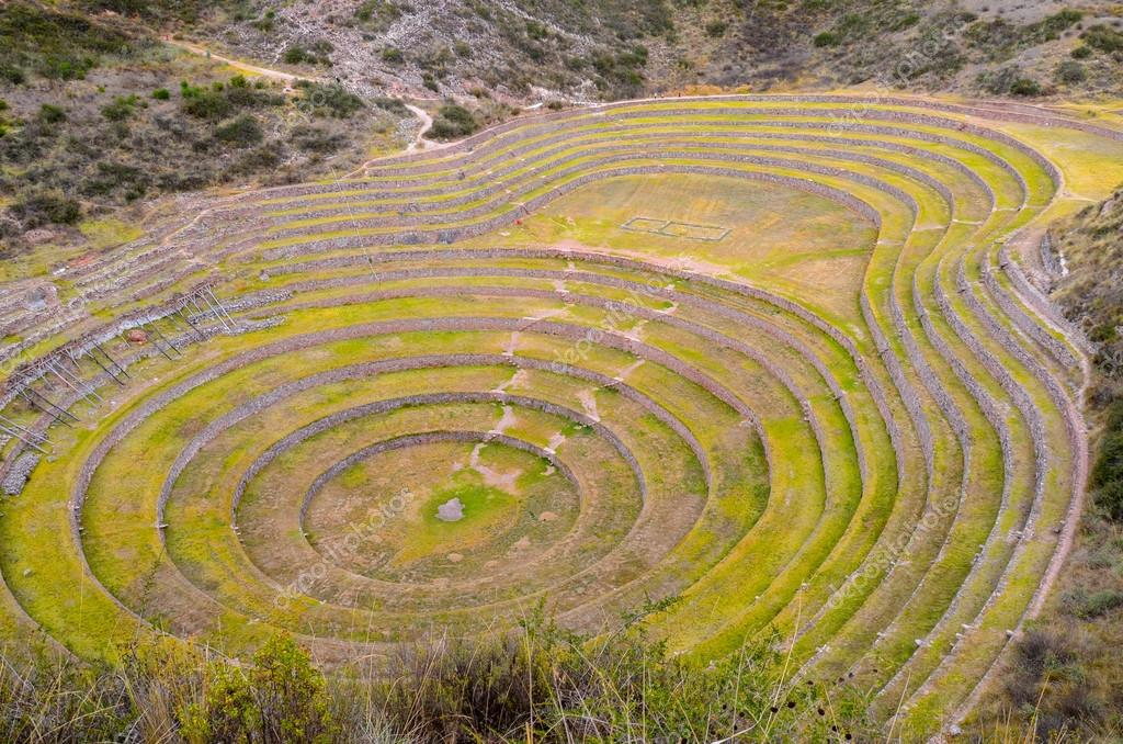 Ancient Inca Circular Agricultural Terraces At Moray Used To
