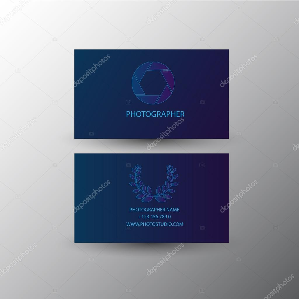 Fotograf Karte Und Visitenkarte Vektor Design Stockvektor