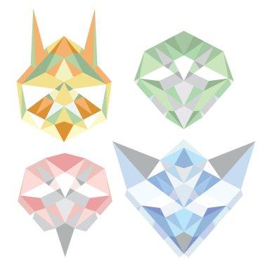 Geometric polygon animals