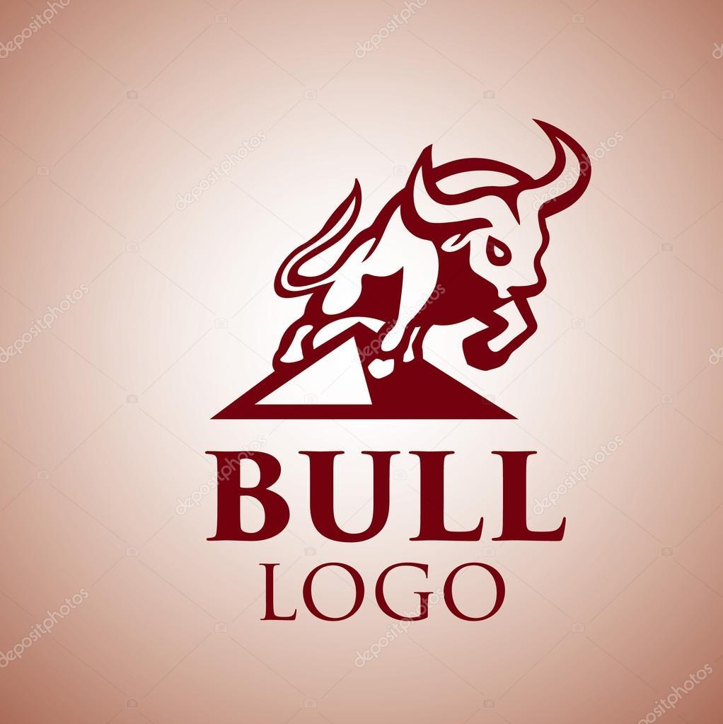 Bull Logo Design Stock Vector Inspiredrive 118333116