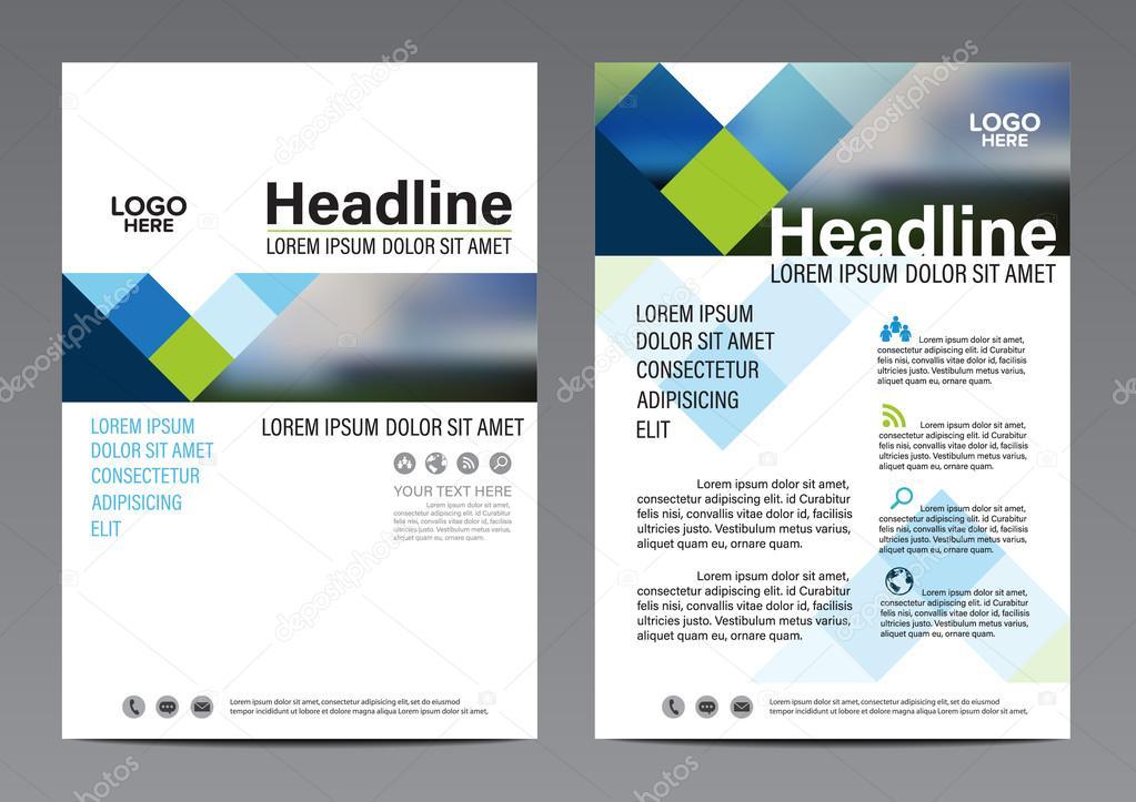 Fabuleux de conception de mise en page brochure. Couverture de rapport  KU14