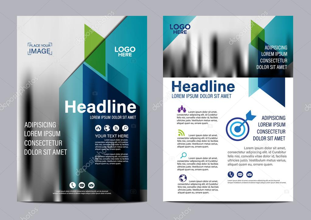 brochure layout design template annual report flyer leaflet cover presentation modern background illustration vector