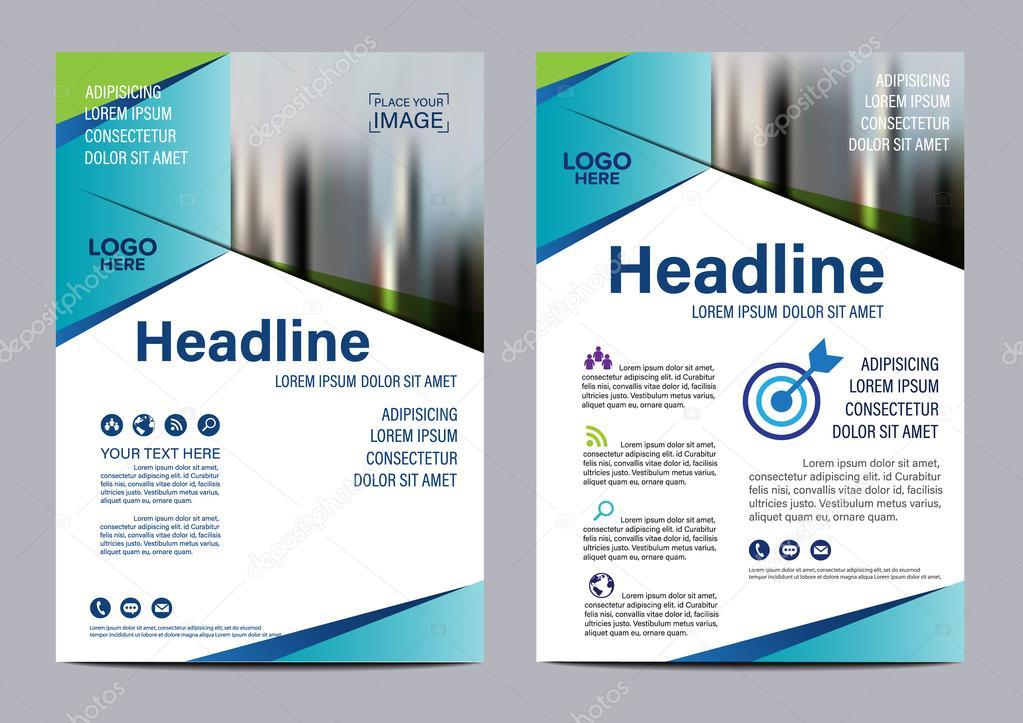 brochure layout design template annual report flyer leaflet cover presentation modern background illustration vector