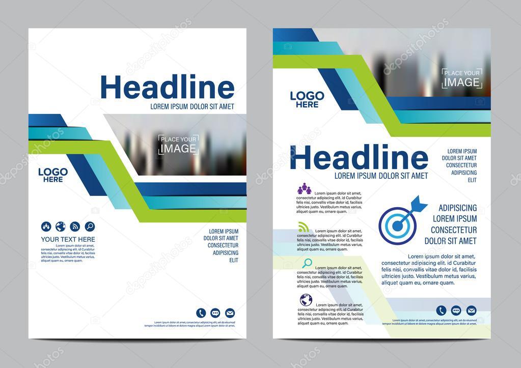 blue modern brochure layout design template annual report flyer