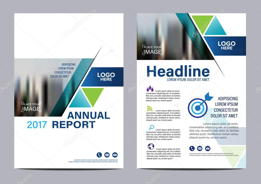 blue modern brochure layout design template annual report flyer leaflet cover presentation modern background