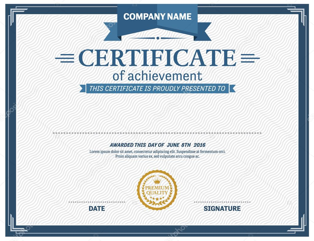 Zertifikat-Diplom-Design-Vorlage-Vektor-illustration — Stockvektor ...