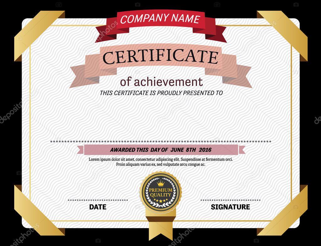 Ilustración de vector de certificado diploma diseño plantilla ...