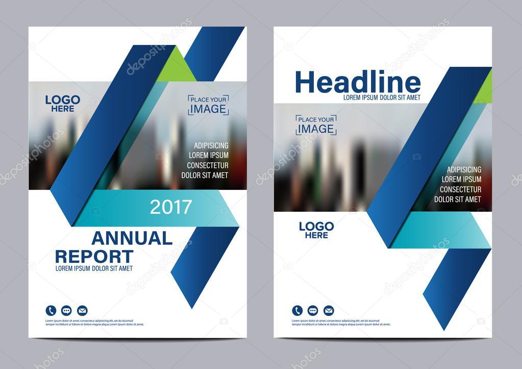 Brochure Layout Design Template Annual Report Flyer Leaflet Cover - Brochure template design