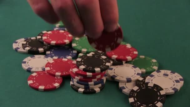 In piedi Poker Chip