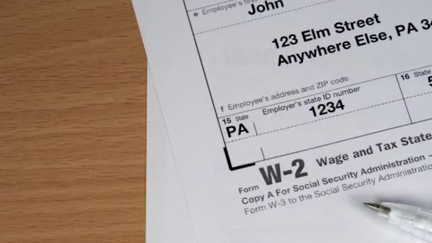 Copy A W-2 tax form for woman person Jane Doe