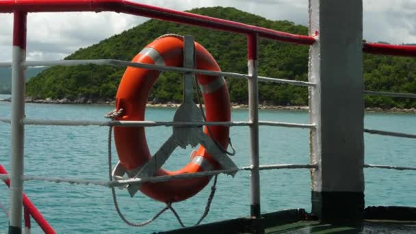 Kommerzielle Nutzung Ringboje auf Fährschiff