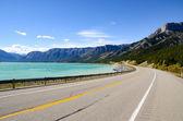 Lago di Abraham più, montagne rocciose canadesi