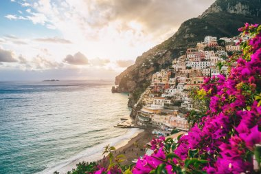 Town of Positano in bloom