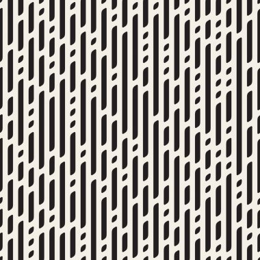 Vector Seamless Black And White Dashed Vertical Lines Geometric Pattern