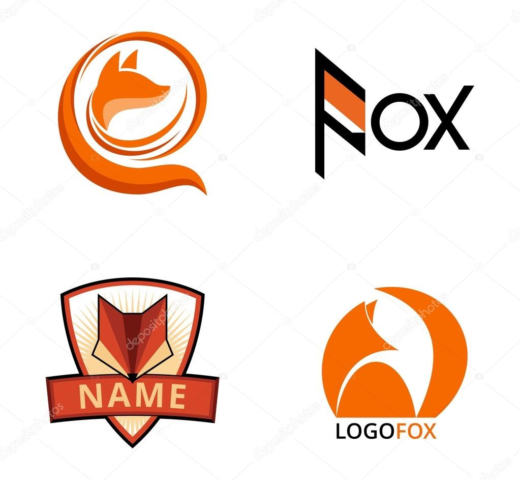 Set of fox logos, badges and design elements — Stock Vector ...