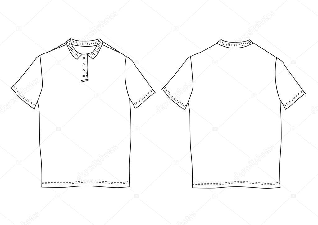 Polo shirt template. Front and back views — Stock Vector © moibalkon ...