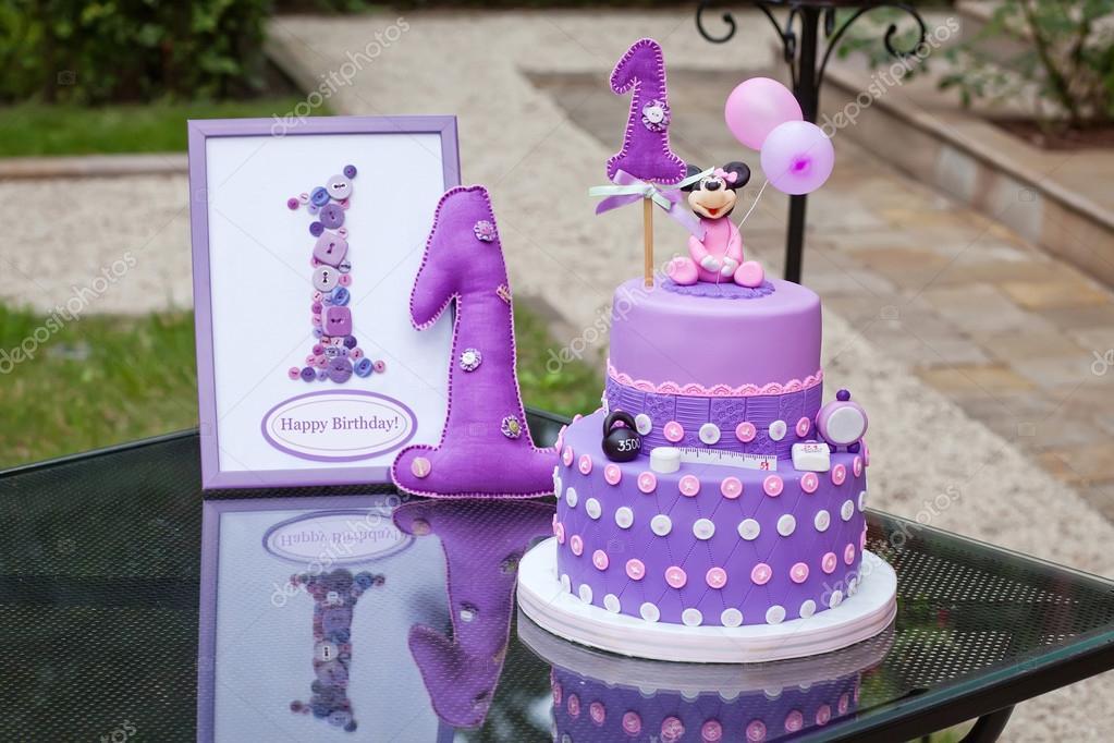 születésnapi torta díszítés Színes dekoráció, az első év születésnapi torta. Dekoratív fr  születésnapi torta díszítés
