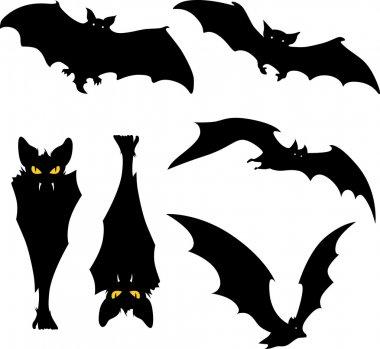 Vampire bat silhouette vector illustration on white background