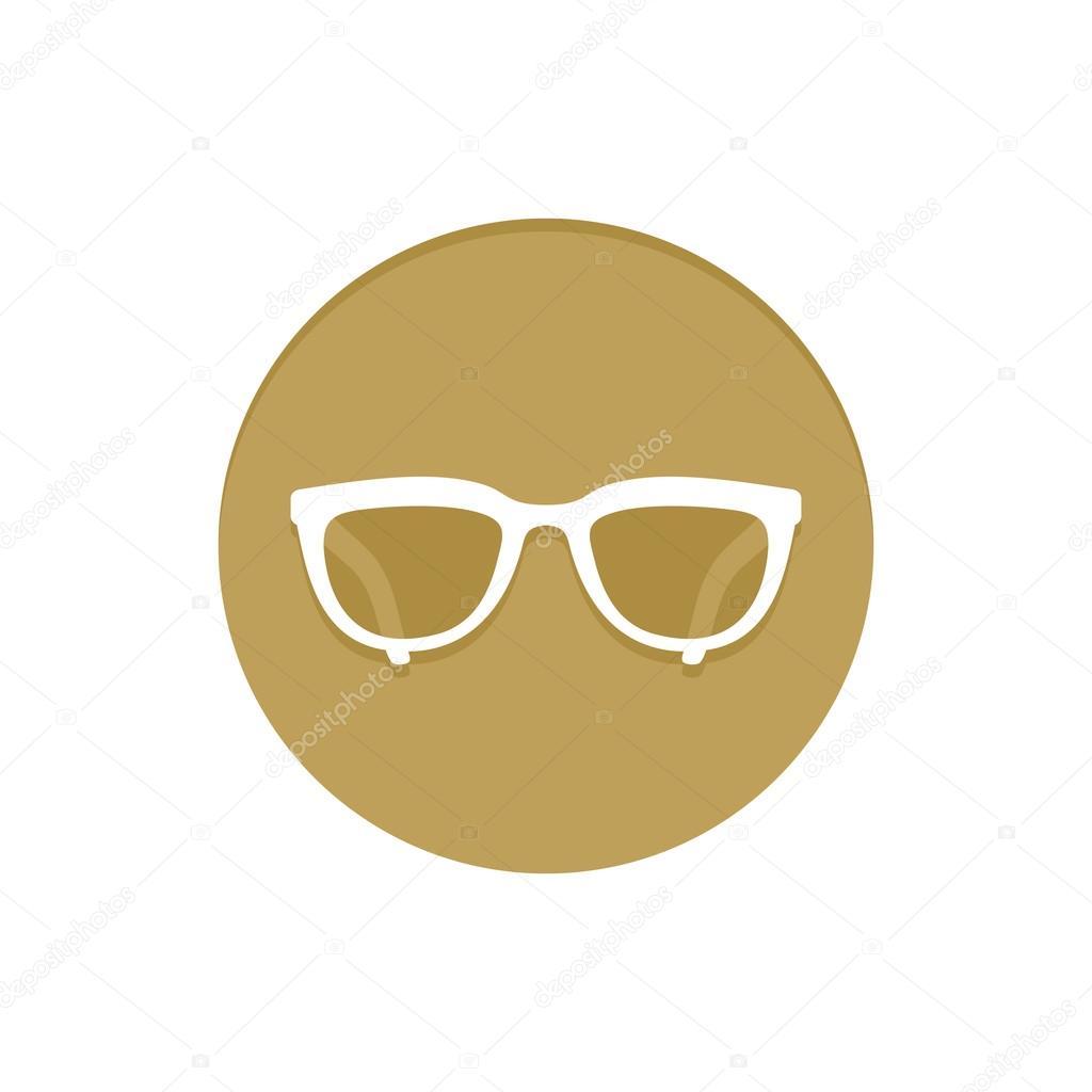 Óculos de ícone de ouro vetor. Item de coleção de ícones web dourado.  Ilustração em vetor ícone símb — Vetor de info orly.lv 3de99612fb