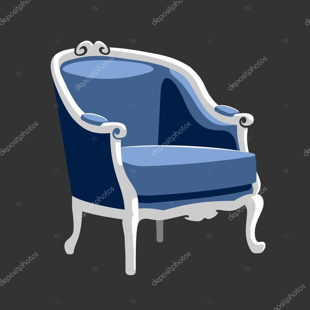 Barok Fauteuil Blauw.Riverside Barok Fauteuil Stockvector C Info Orly Lv 120211892