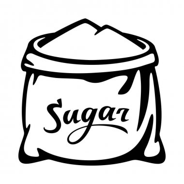 Open sugar sack icon. Outline open sugar sack vector icon for web design isolated on white background icon