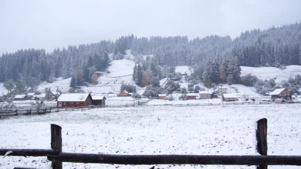 Carpathians Winter Is a Village in the mountains.