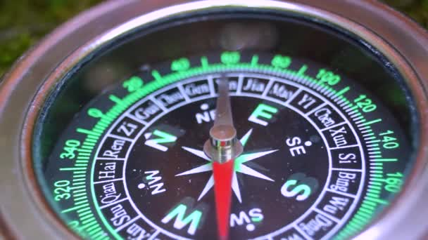 The compass and the arrow is spinning abnormally, large.