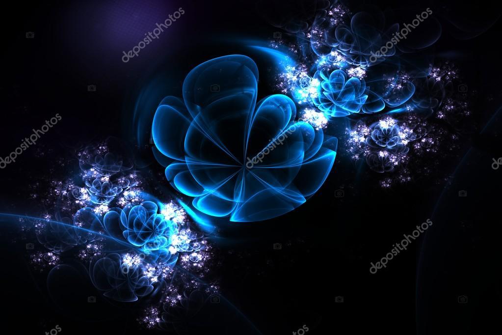 Flores 3d abstractas en una esfera de cristal fractal en for Imagenes abstractas 3d