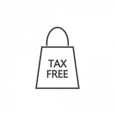Vector icon pack of tax free purchases on white isolated background. Layers grouped for easy editing illustration. For your design. icon