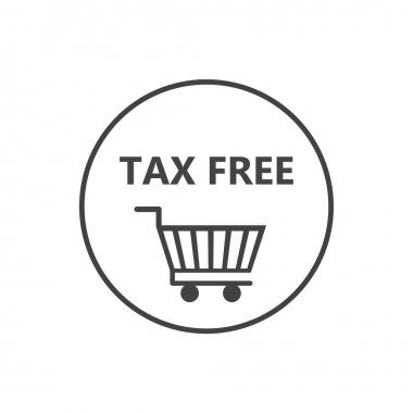 Vector icon pack of tax free cart on white isolated background. Layers grouped for easy editing illustration. For your design. icon