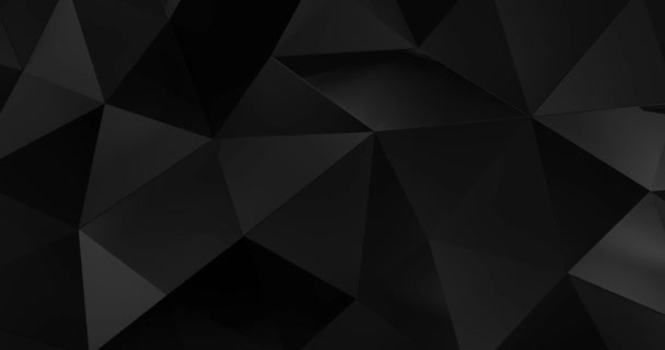 3d black abstract geometric polygon surface motion background loop 4k