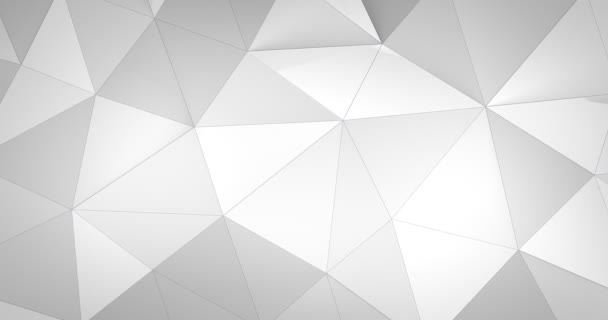 3d white abstract geometric polygon surface motion background loop 4k
