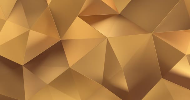 3D Gold abstrakt geometrische Polygon Oberfläche Bewegungshintergrund Schleife 4k