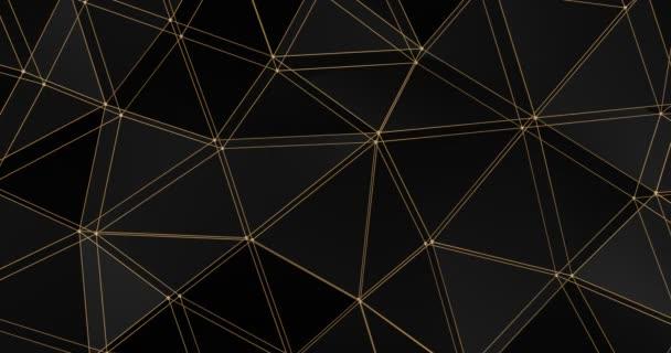 3D Gitter abstrakte geometrische Polygon Oberfläche Bewegung Hintergrund Schleife 4k