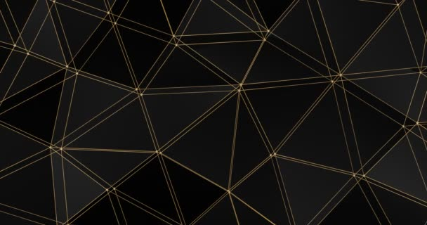 3D Gitter abstrakt geometrische Polygon Oberfläche Bewegung Hintergrund Schleife 4k