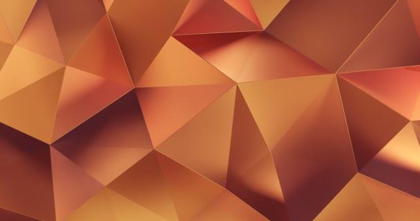 3d orange abstrakt geometrische Polygon Oberfläche Bewegungshintergrund Schleife 4k
