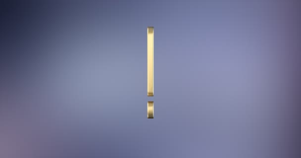 Exclamation Mark Gold 3d Icon