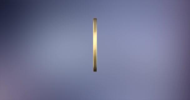 Úsměv zlaté 3d ikony