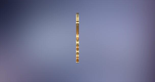 Medizin Schlange Gold 3d Symbol
