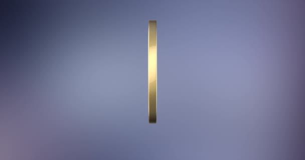 Exclamation Badge Gold 3d Icon