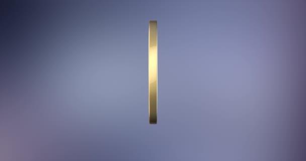 Felkiáltójel jelvény arany 3d ikon