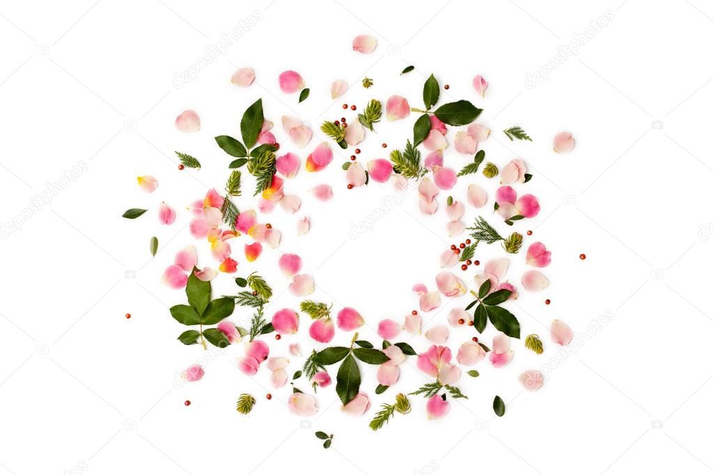 Fondo: Flores Y Hojas Verdes