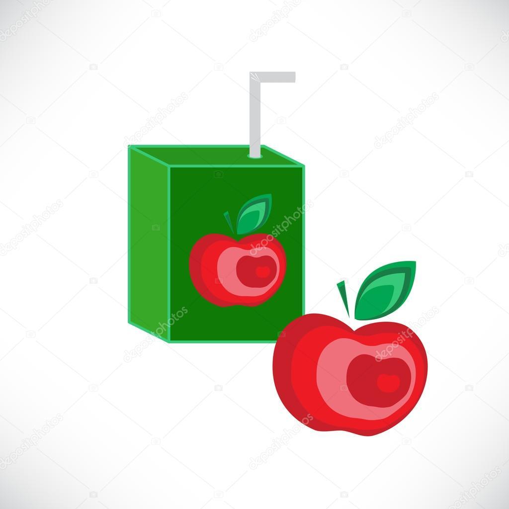 Apfel-Saft-Verpackung-Design-Vorlage — Stockvektor © Oksana6299956 ...
