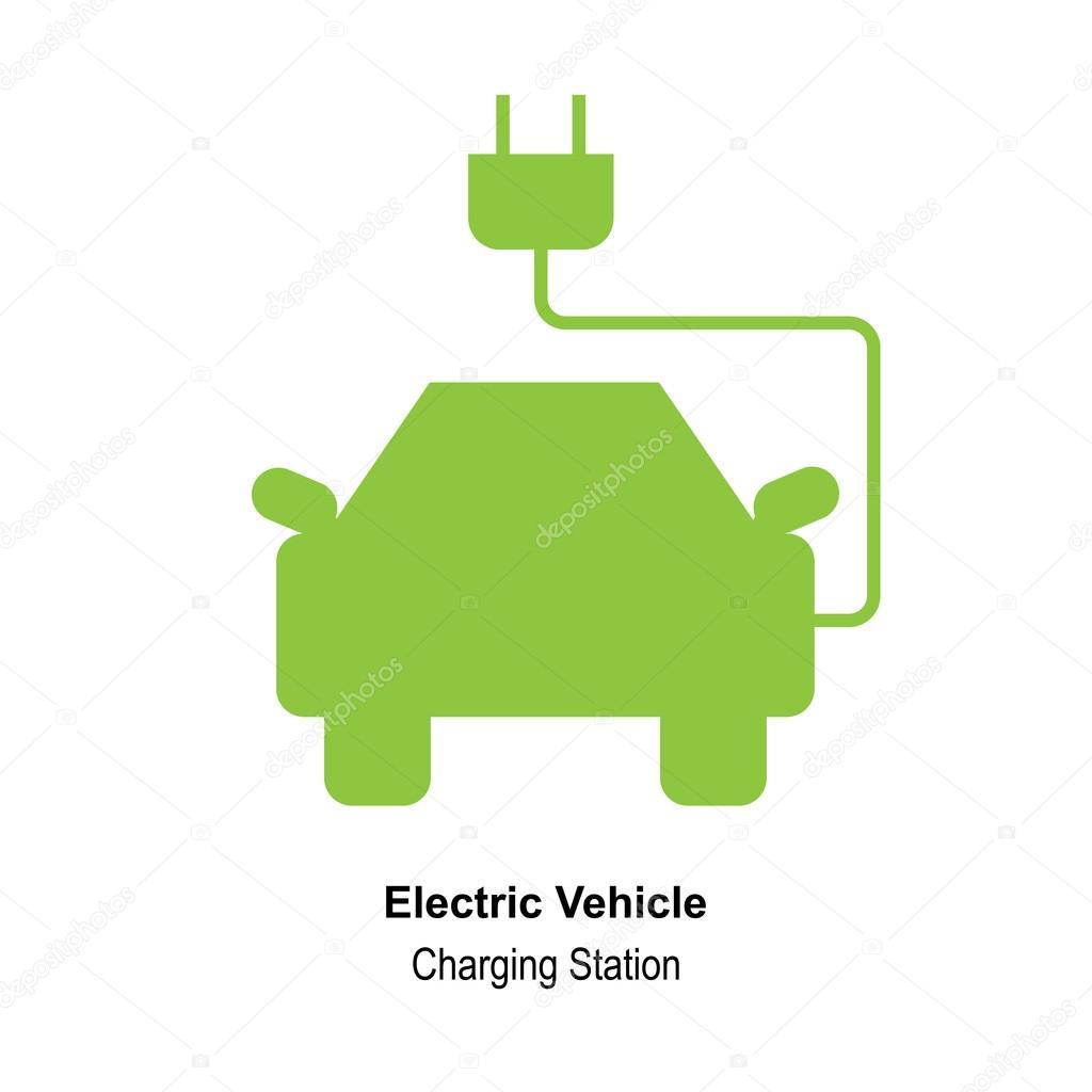 Eco coche Logo plantilla diseño Vector — Vector de stock ...