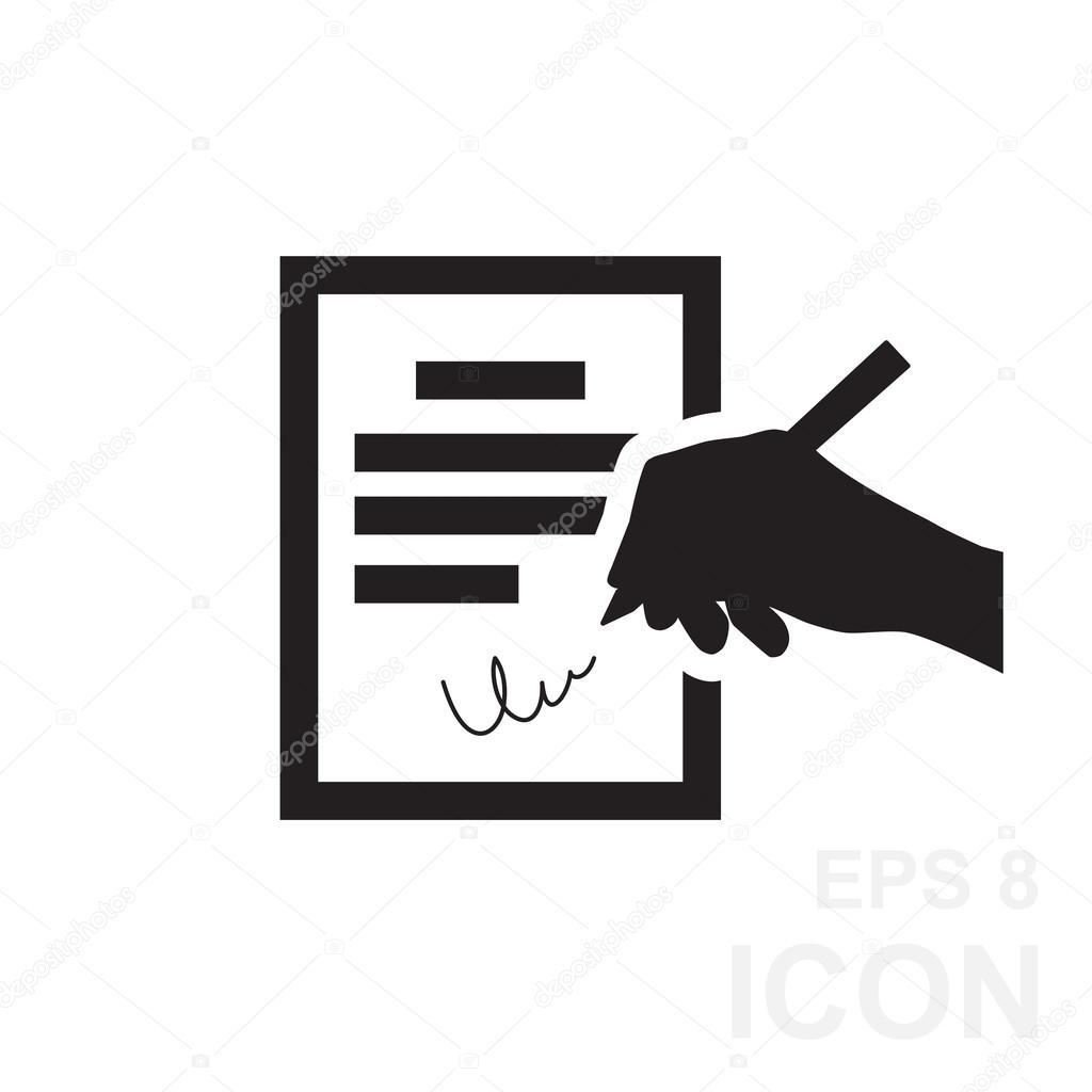 Der Vertrag-Symbol. Zustimmung und Unterschrift, Pakt, Accord ...