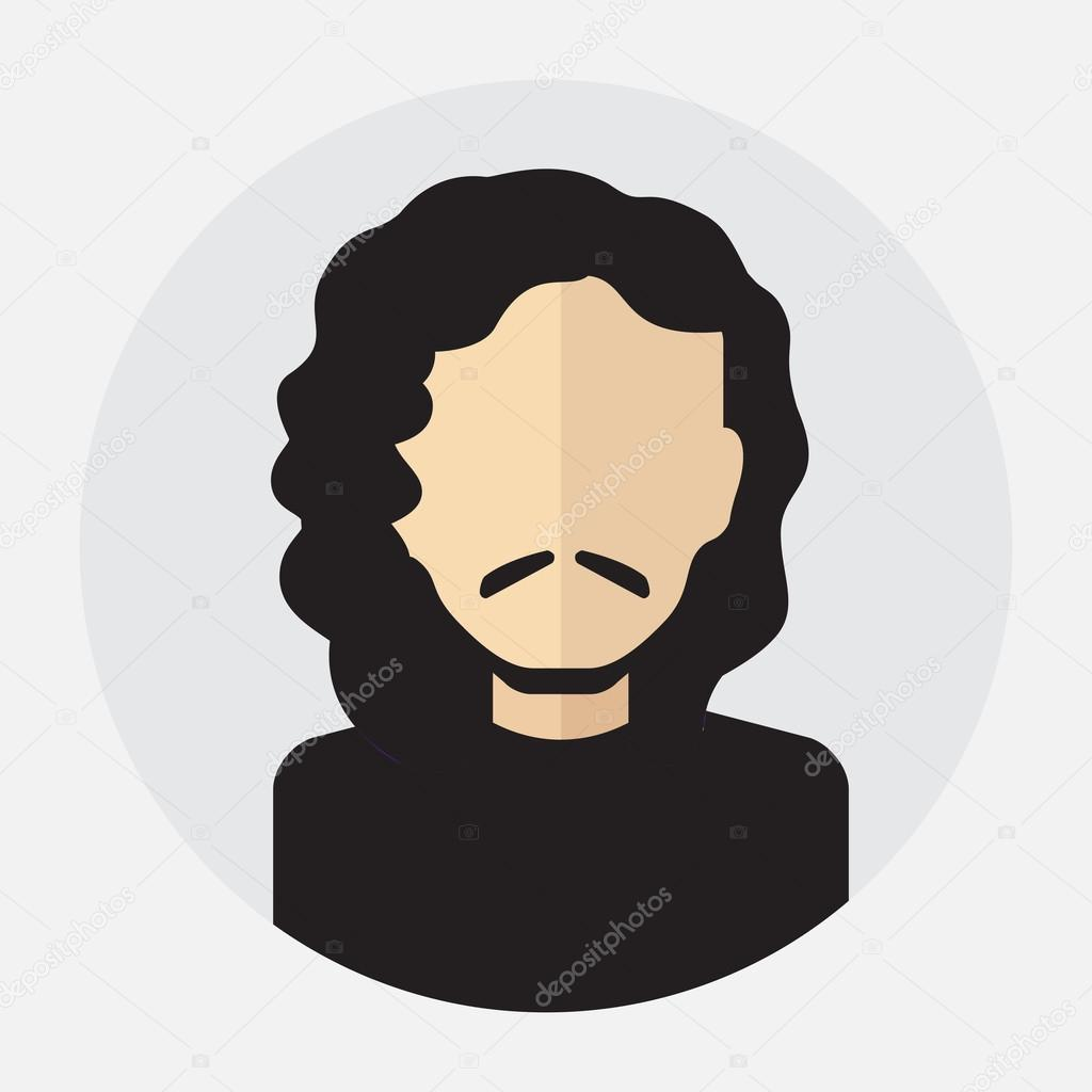 3783298e4 Avatar de rosto masculino, logotipo, modelo, pictograma, botão. Rodada da  moda ícone plana com homem de negócios, internet, projeto — Vetor por ...