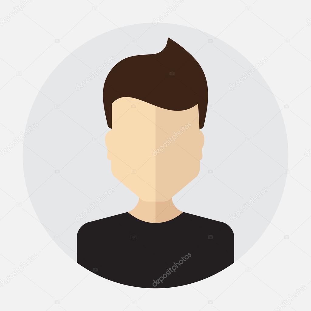 Avatar Logo: Male Face Avatar, Logo, Template, Pictogram, Button