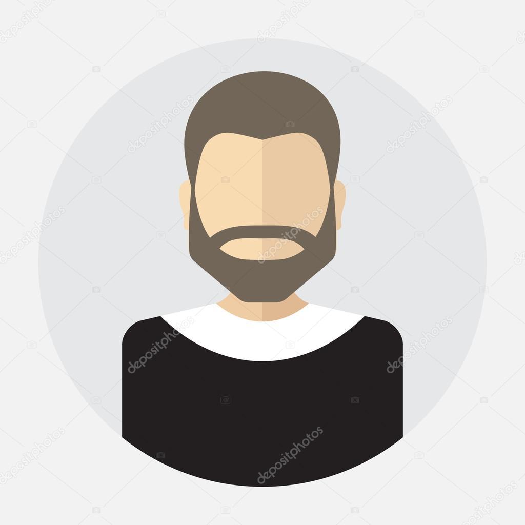 rostro masculino avatar, logo, plantilla, pictograma, botón ...